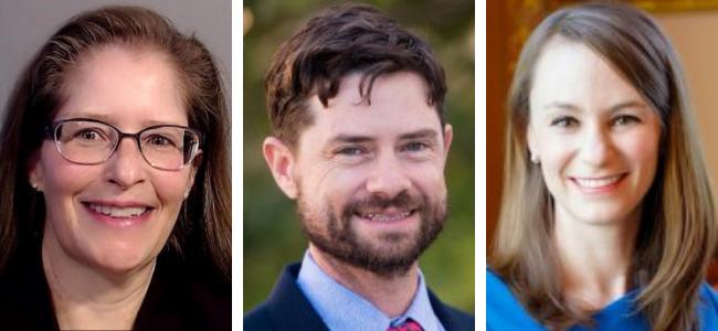 New LBJ faculty, 2020–21: Bianca Adair; Patrick Bixler; Sheena Greitens