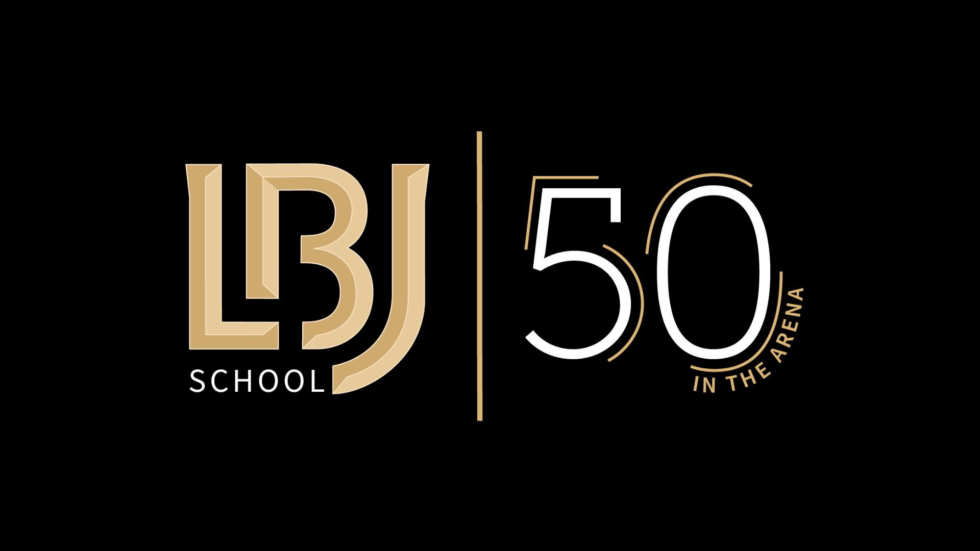 LBJ School 50th Anniversary logo