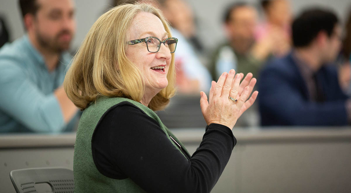 LBJ School Professor Ruth Wasem during the 2019 NASPAA Simulation